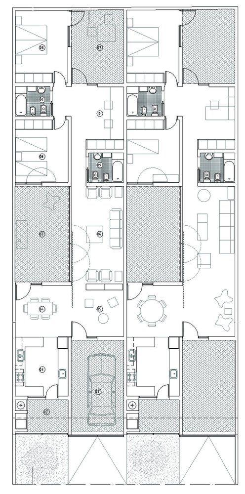 Casa Tres Patios / M2G Arquitectos,planta