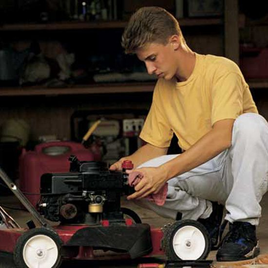 Lawn Mower Safety Tips  Lawn mower safety tips to remember when using an electric lawn mower, a push lawn mower and a riding lawn mower.