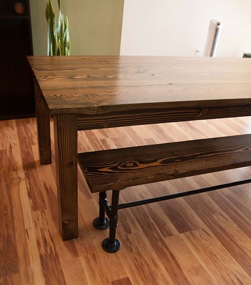 Farmhouse Table Solid Wood Farmhouse Style Table Rustic Dining Table Kitch