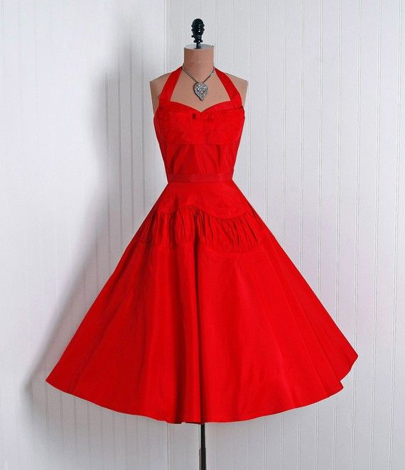 red vintage dresses | The Little Red Dress | The Glamorous Housewife