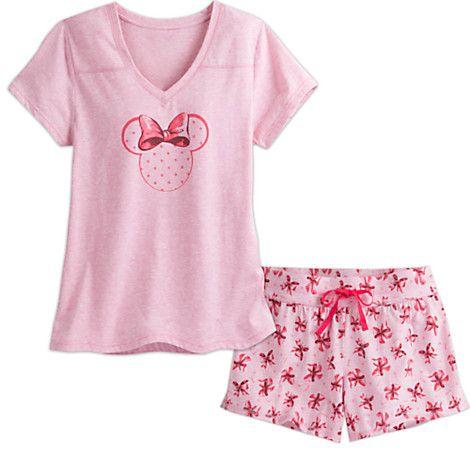 Minnie Mouse Short Sleep Set for Women - Pink | Disney Store