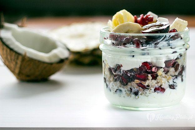 barley with fruits/ cebada con frutas