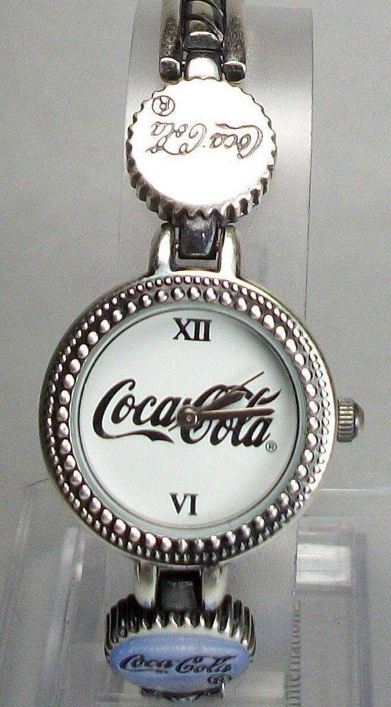 Collectors Coca-Cola Bottle Cap Watch! Bottle Cap Bracelet Links too! Retired! Rare!