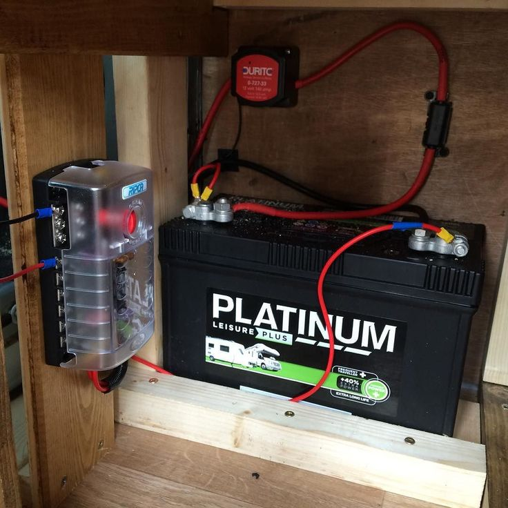 the split charge leisure battery and fuse box is in