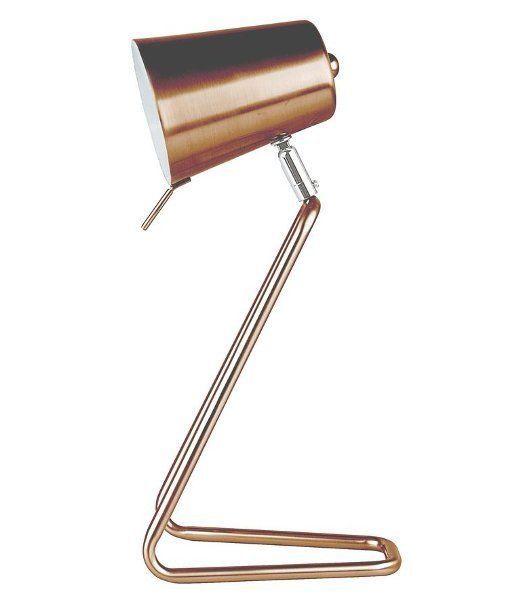 Leitmotiv Z Metal DESK LAMP Steel COPPER - Modern TABLE Reading LAMP
