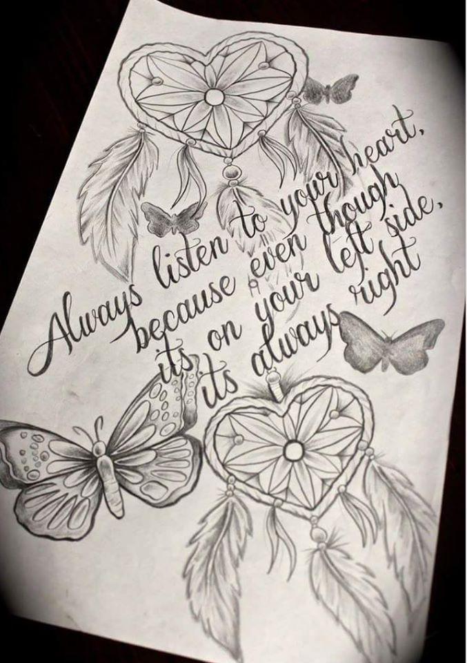 Ein geheimes Wissen, das du trägst, eine innere Kraft, die durch dich fließt … #Tattoos