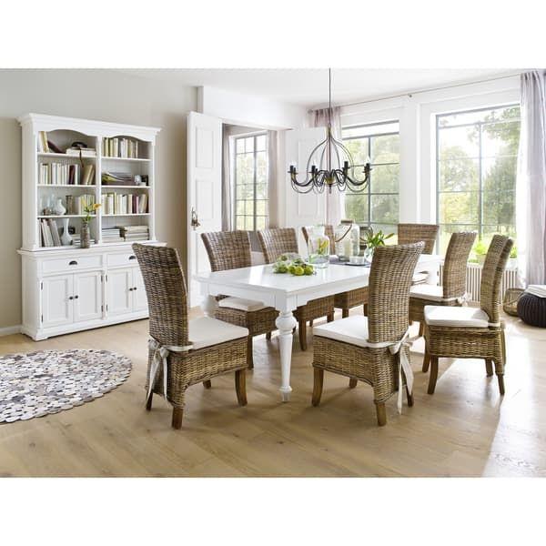Best The Gray Barn Fox Hollow White Mahogany Dining Table 94 400 x 300