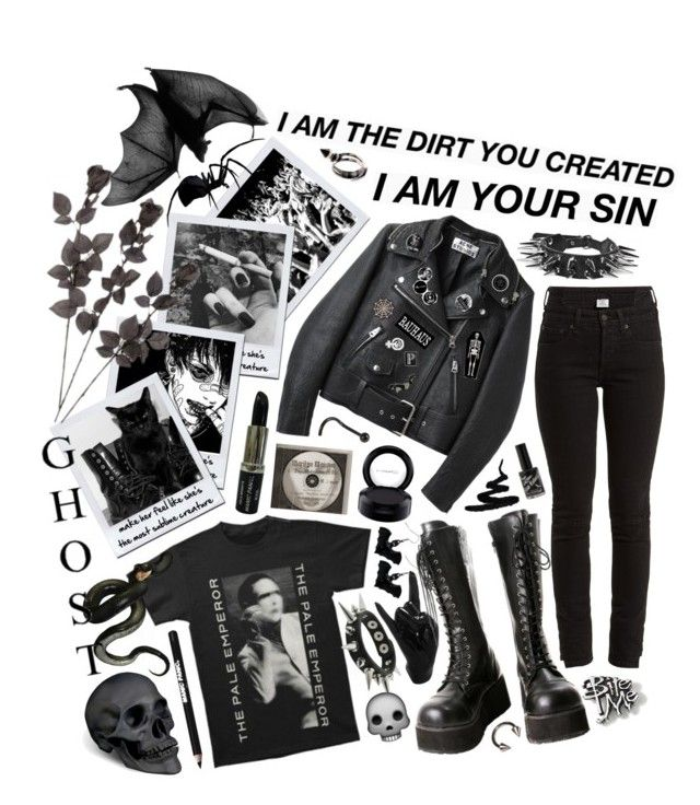 """""""1591"""" by anastaziah2014 ❤ liked on Polyvore featuring Acne Studios, Vetements, Hot Topic, Thelermont Hupton, Manic Panic NYC, MAC Cosmetics, L'Objet and INDIE HAIR"""