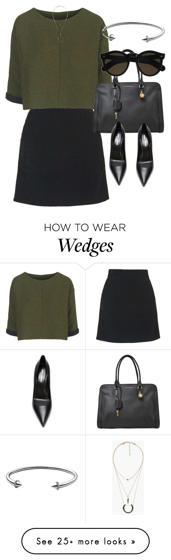 """Untitled #3337"" by glitter-the-world on Polyvore featuring Topshop, MANGO, Alexander McQueen, Yves Saint Laurent, Beau Coops, Michael Kors, women's clothing, women's fashion, women and female"