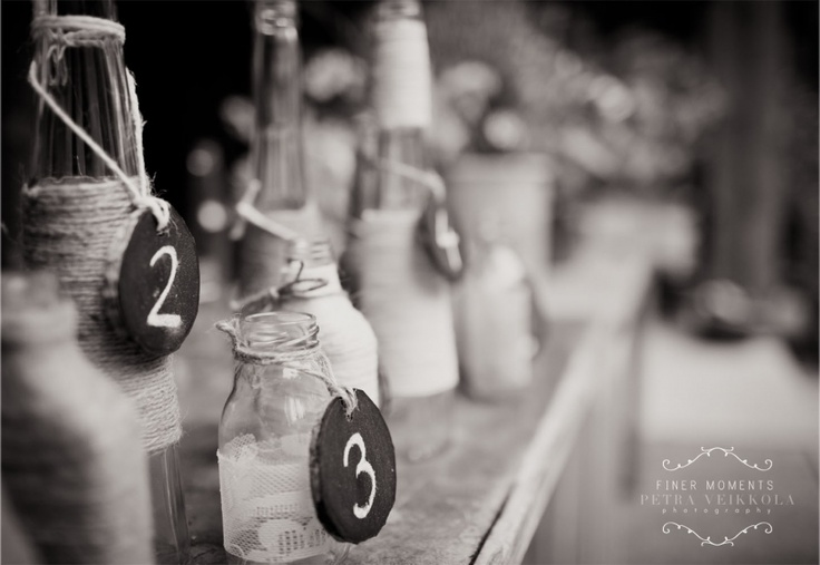 this is cute idea for table numbers