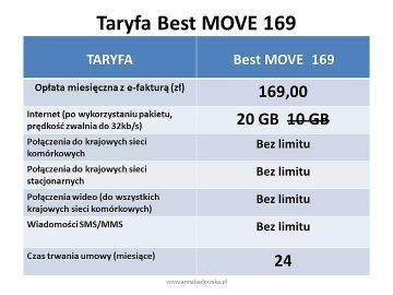 BEST MOVE 169 oferta z telefonem