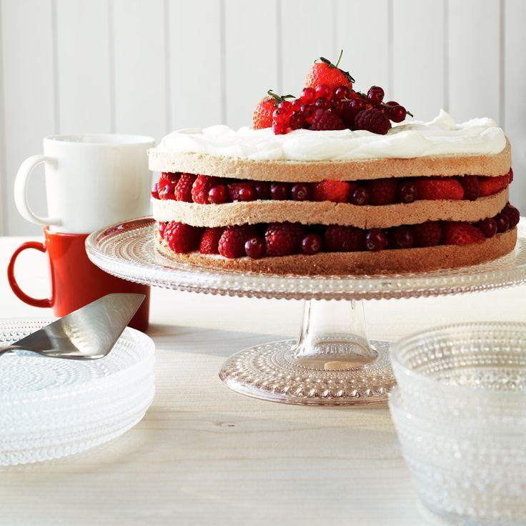 Kastehelmi Cake Stand clear