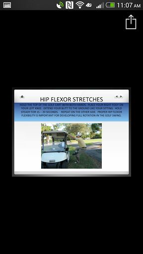 With the Under Par Stretches app you'll find the stretches you need for superior swings and a better overall golfing experience. This set of stretches will make your swing fuller, stronger and more solid resulting in under par scores per hole. Meaning low