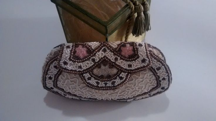Art Deco Beaded Evening Bag from Paris France (Circa 1940s) by Puddledub on Etsy