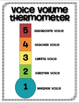 Voice Volume Poster FREEBIE | Autism | Pinterest