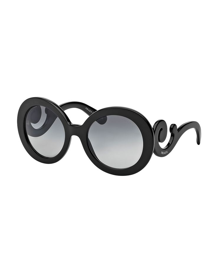 I Have these and I LOVE these Baroque Sunglasses, Black by Prada at Neiman Marcus.