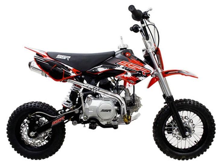 "DIR005 110cc Dirt Bike Manual Clutch, 4 Speeds, Keihin Carburetor, Wavy Rotor Disc Brakes, Front/Rear 12/10"" Wheels $490.00"