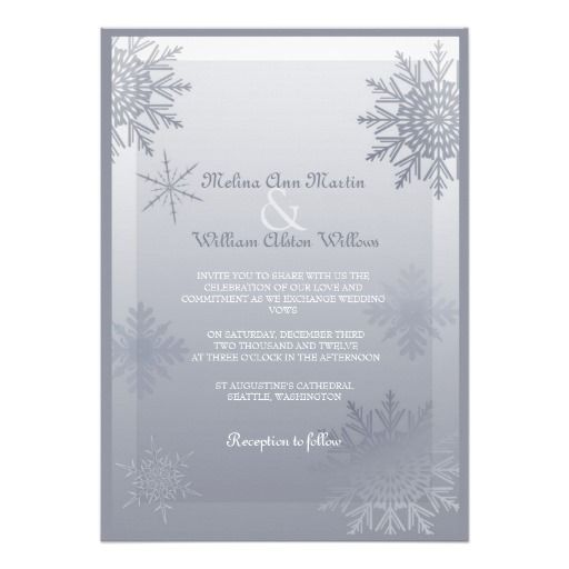 17 Best Images About Winter Snowflake Wedding Invitations