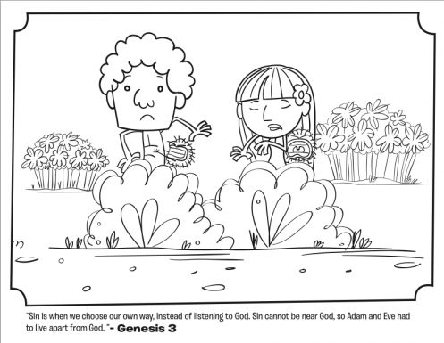 Adam And Eve Leave The Garden Coloring Page
