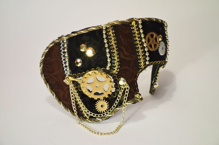 Steampunk Masquerade Mask with Gearwheel Monocle - The Littlest Costume Shop in Melbourne