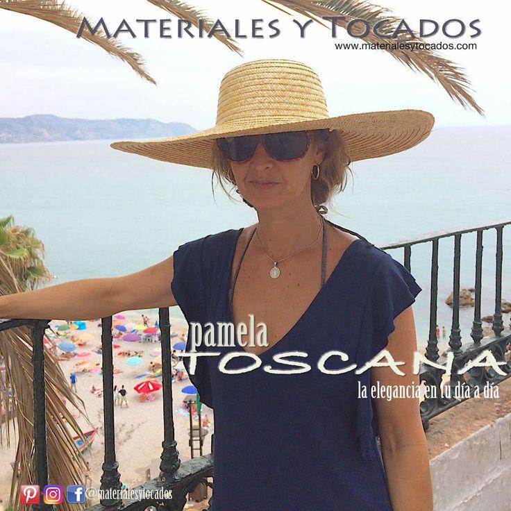Modelo Toscana. Calidad extraordinaria, no necesita sujeción con diadema o felpa. Se adapta perfectamente. Disponible en nuestra tienda online www.materialesytocados.com #Pamelas #tocados #handmade #DIY #materialesytocados #elegancia #verano2017 #fascinator #fashion #picoftheday #piscina #guapa #vacaciones #playa #beach #toscana #colores #pajanatural #Sevilla #tomares #Ascott #verano #summer
