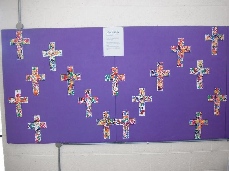 Mosaic Easter crosses
