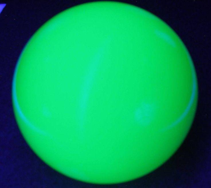 """3"""" (76mm) Green Uranium Vaseline Czech Glass Sphere Paperweight Facet UV Glow #CzechGlass"""