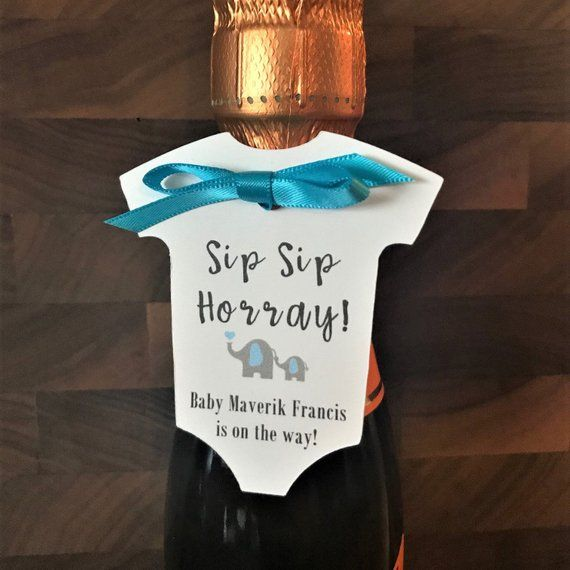 Set of 12 Sip Sip Hooray Drink Tags Guest Favors Custom Favor Hang Tags