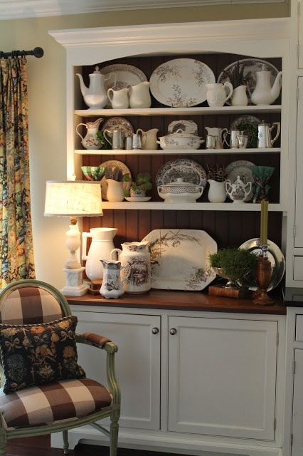 Nancy's Daily Dish: Decorating with Brown Transferware & $100 GIVEAWAY