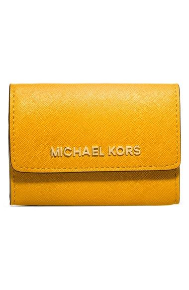 Free shipping and returns on MICHAEL Michael Kors 'Jet Set' Saffiano Leather Coin Purse at Nordstrom.com. A sleek and polished silhouette lends a touch of vintage charm to a compact coin purse crafted from Saffiano leather.