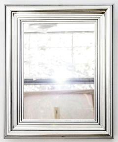 Espejo con marco plateado medidas 37x45 cm varilla - Espejos marco plateado ...