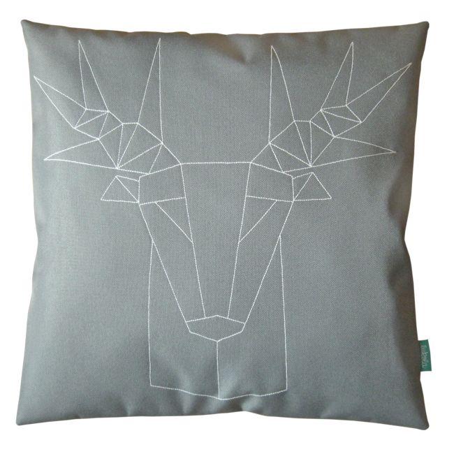 lukola handmade: Kanapowa poduszka dekoracyjna GEOMETRYCZNY JELEŃ s...