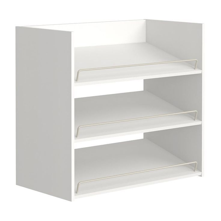 Closetmaid Impressions 3 Shelf White Shoe Organizer 14905 Closet Shoe Storage Wood Closet Systems Shoe Organization Closet