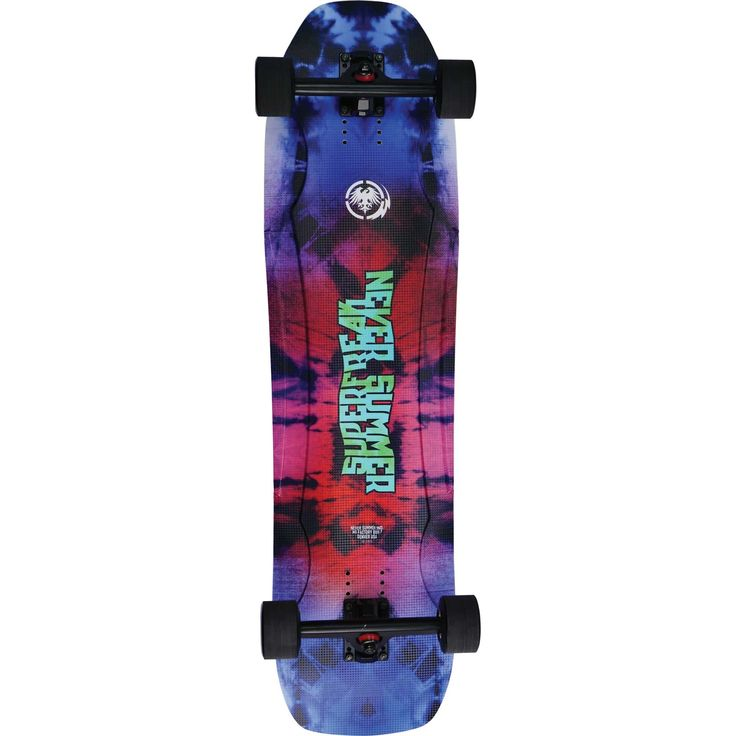 "Never Summer - Superfreak Longboard Complete 2016, 36.25""x9.625"". The Superfreak is just that, a super freak! This single kick cruiser will never let your spirits down once you get 'er on the street. Take Rick James' advice, don't bring this board home to mother."