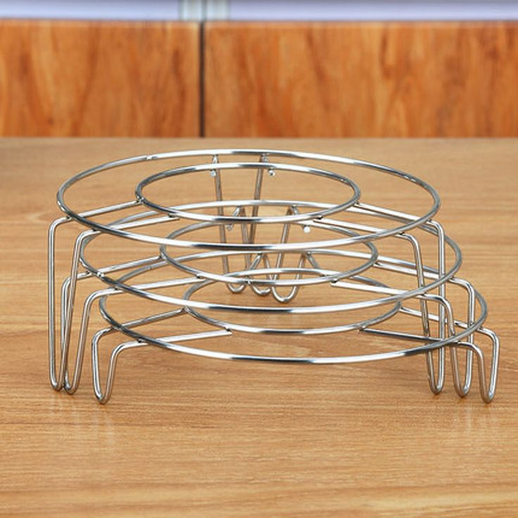 3Pcs High - Profile Steamer Kitchen Cookware Round Stainless Steel Cooking Ware Steaming Rack Stand Kitchen heating Supplies