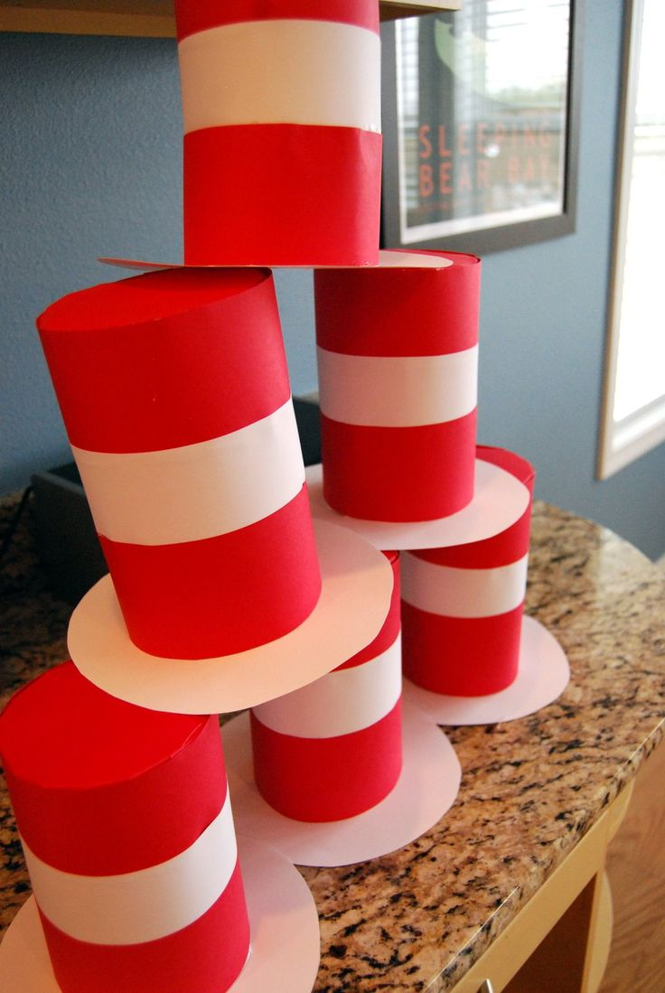 Kathryn Church Designs: Cat in the Hat Party Hats...could make a cute game as well