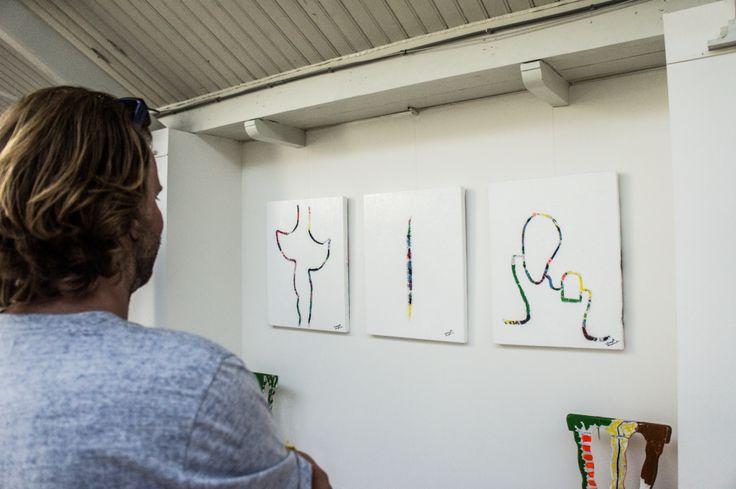 Local Goods Store @dehallen Amsterdam x Jeanim Hengelmolen (customer looking at his work)