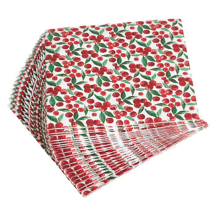 Buy John Lewis Mini Berries Paper Napkins, Pack of 20 Online at johnlewis.com