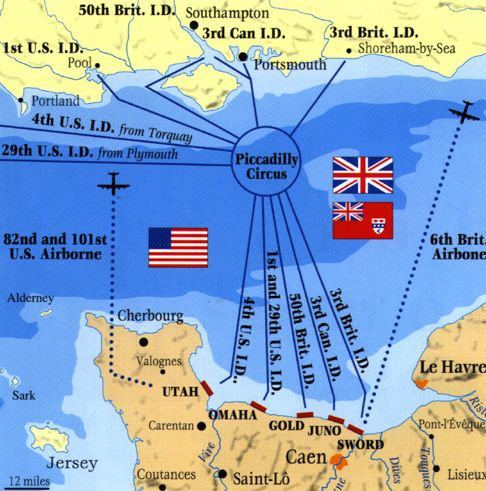 Norman Arvidson D-Day Memorial Story, Chapter 2, D-Day Map
