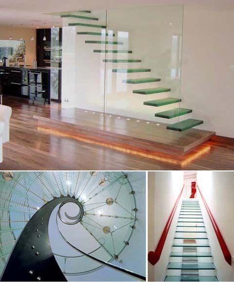 Escalera de cristal. Hermosa!