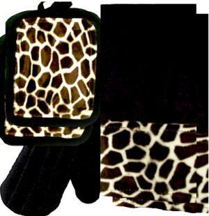Giraffe Print Kitchen Towel Set