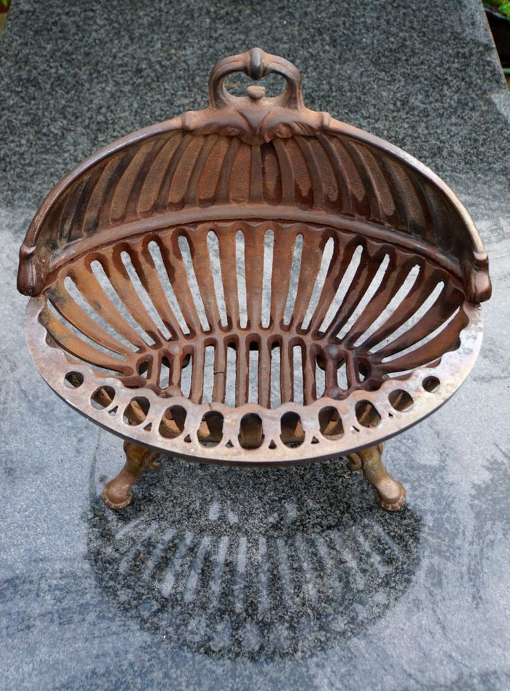 Antique Victorian Fire Basket