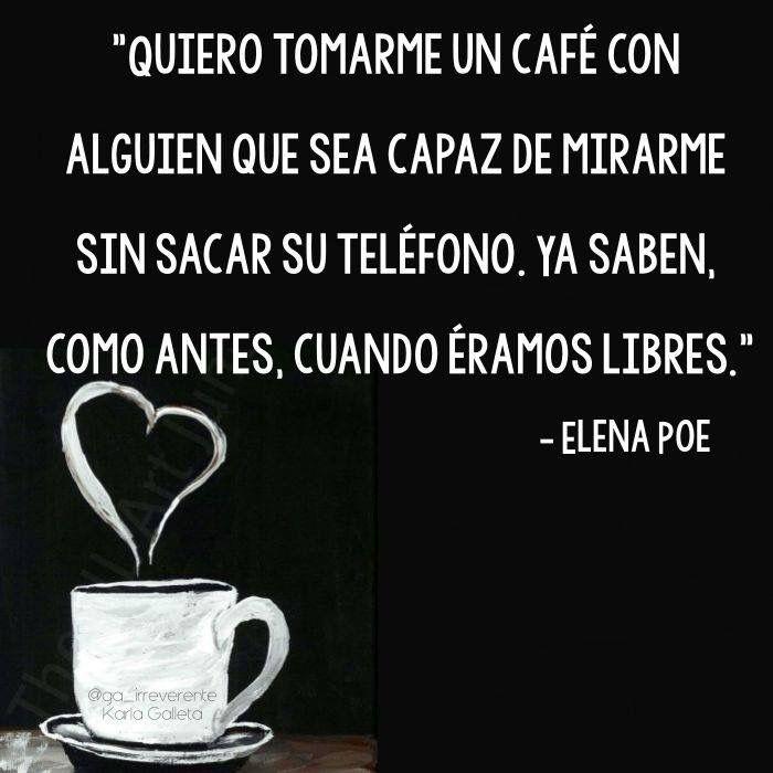 〽️ Quiero tomarme un café...