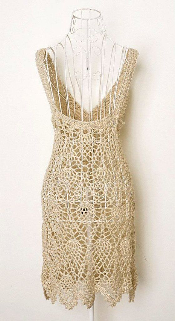 Hand crochet Women Summer Sexy Tank Top  Cover up di GansilyoStore, $55.00