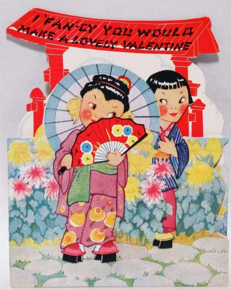 196 best images about Vintage valentine Cards Cultural Costumes – Japanese Valentine Cards