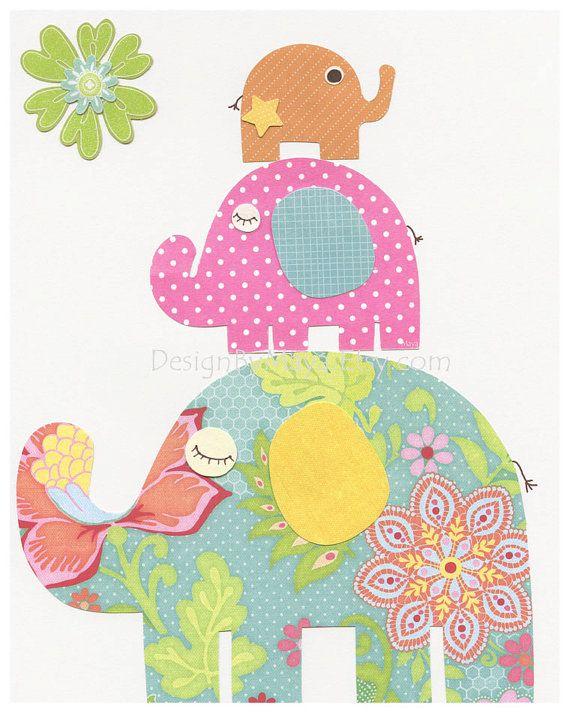 Guardería niña imprime niña decoración vivero arte por DesignByMaya