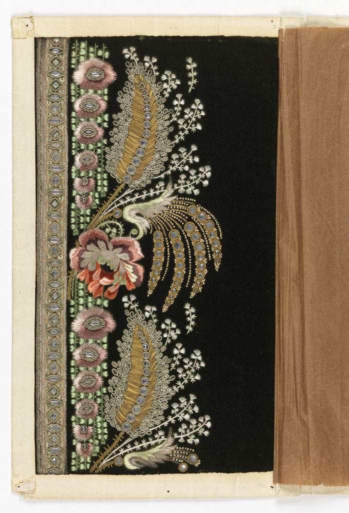 Embroidery Sample, 1775–1805