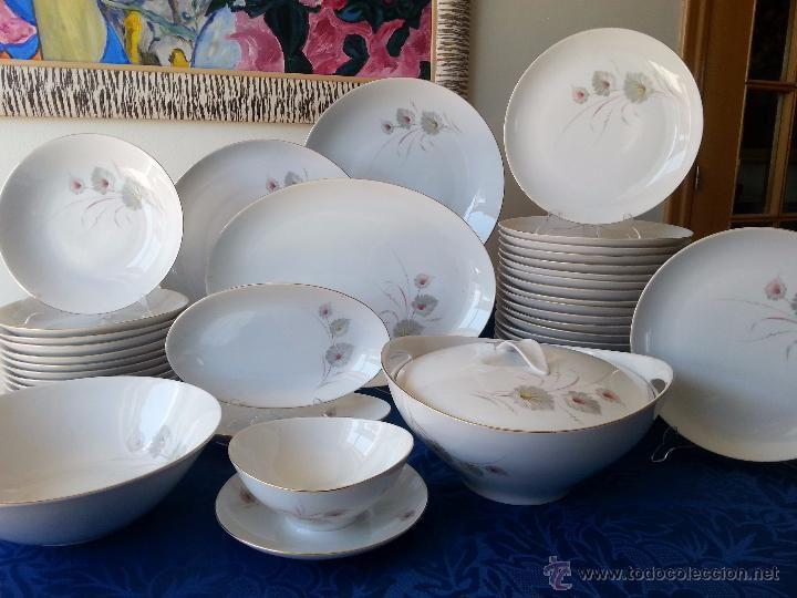 Vajilla a os 60 de porcelana de bavaria 44 piezas foto 2 for Vajilla porcelana