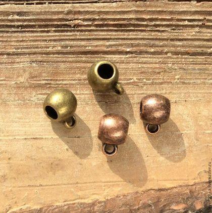 Для украшений ручной работы. Ярмарка Мастеров - ручная работа. Купить Бейлы 7,5 мм - 2 шт - 2 цвета держатели для кулонов подвесок. Handmade.