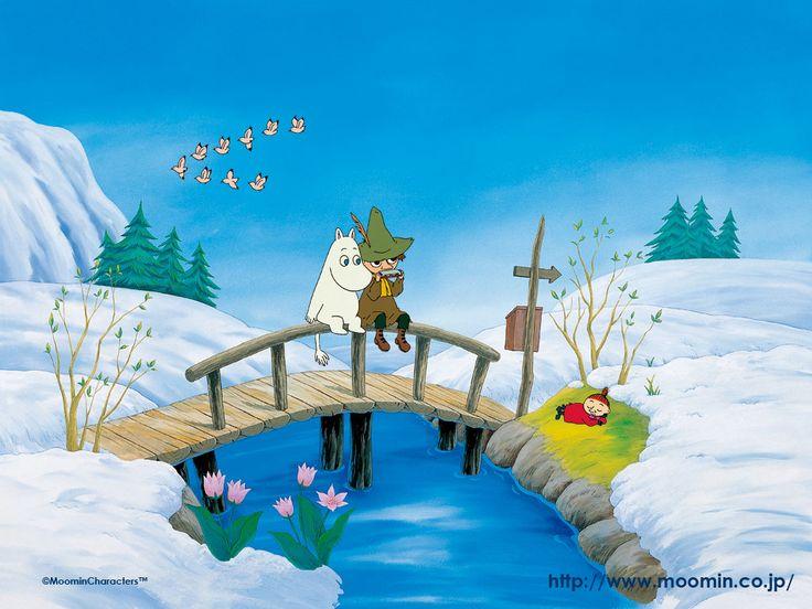 Moomin and Snufkin!